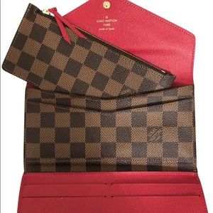 Josephine Monogram Louis Vuitton wallet red